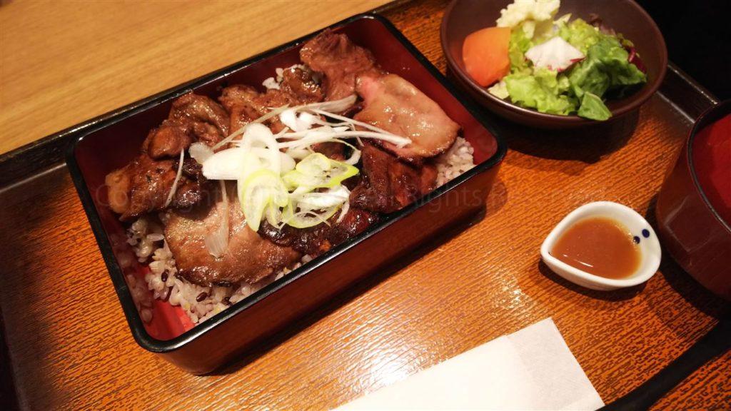 大戸屋 - 玄米味噌漬け炭火焼き牛タン御膳