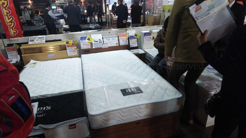 横浜グランドインテリアフェアベッド