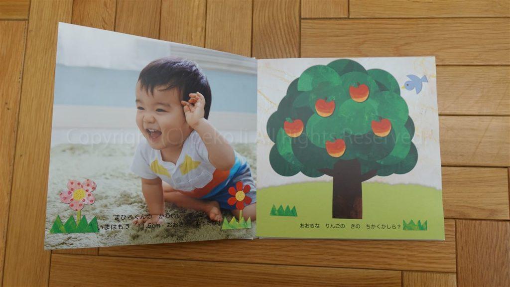 1歳バースデイブック「まほうのめがね」3ページ目